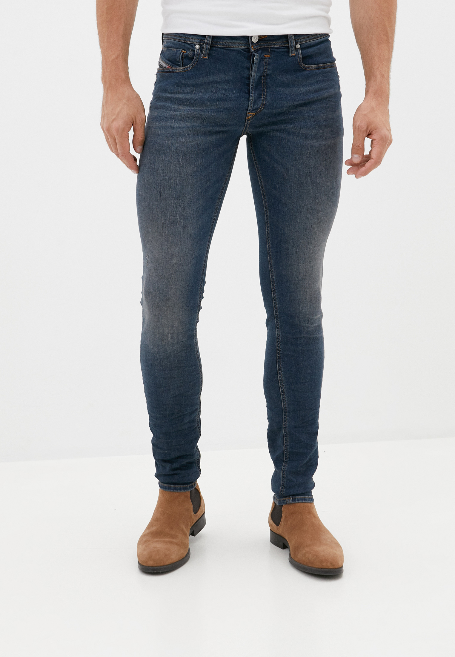 Мужские зауженные джинсы Diesel (Дизель) 00S7VH085AE