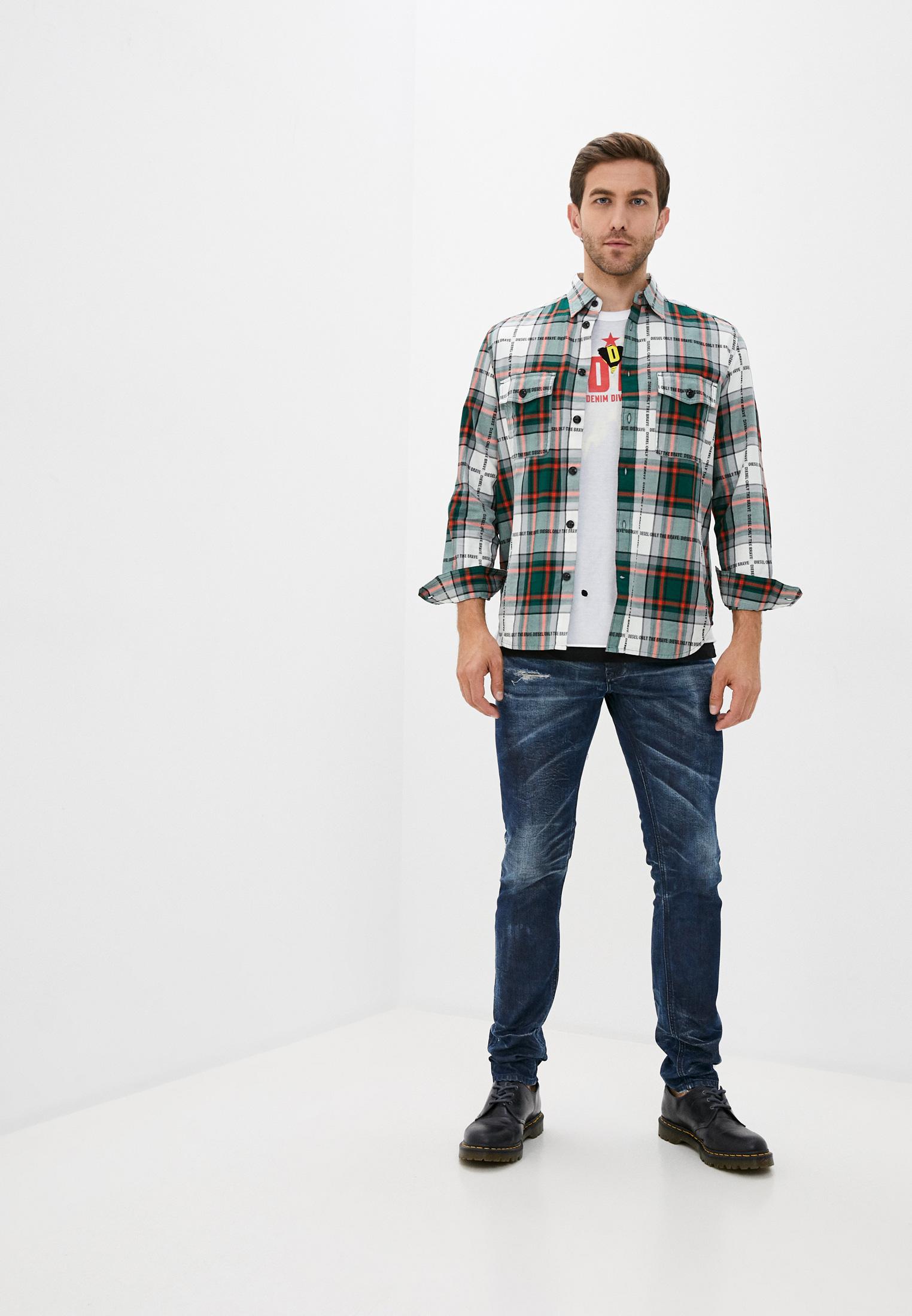 Мужские зауженные джинсы Diesel (Дизель) 00SWID084AM: изображение 2