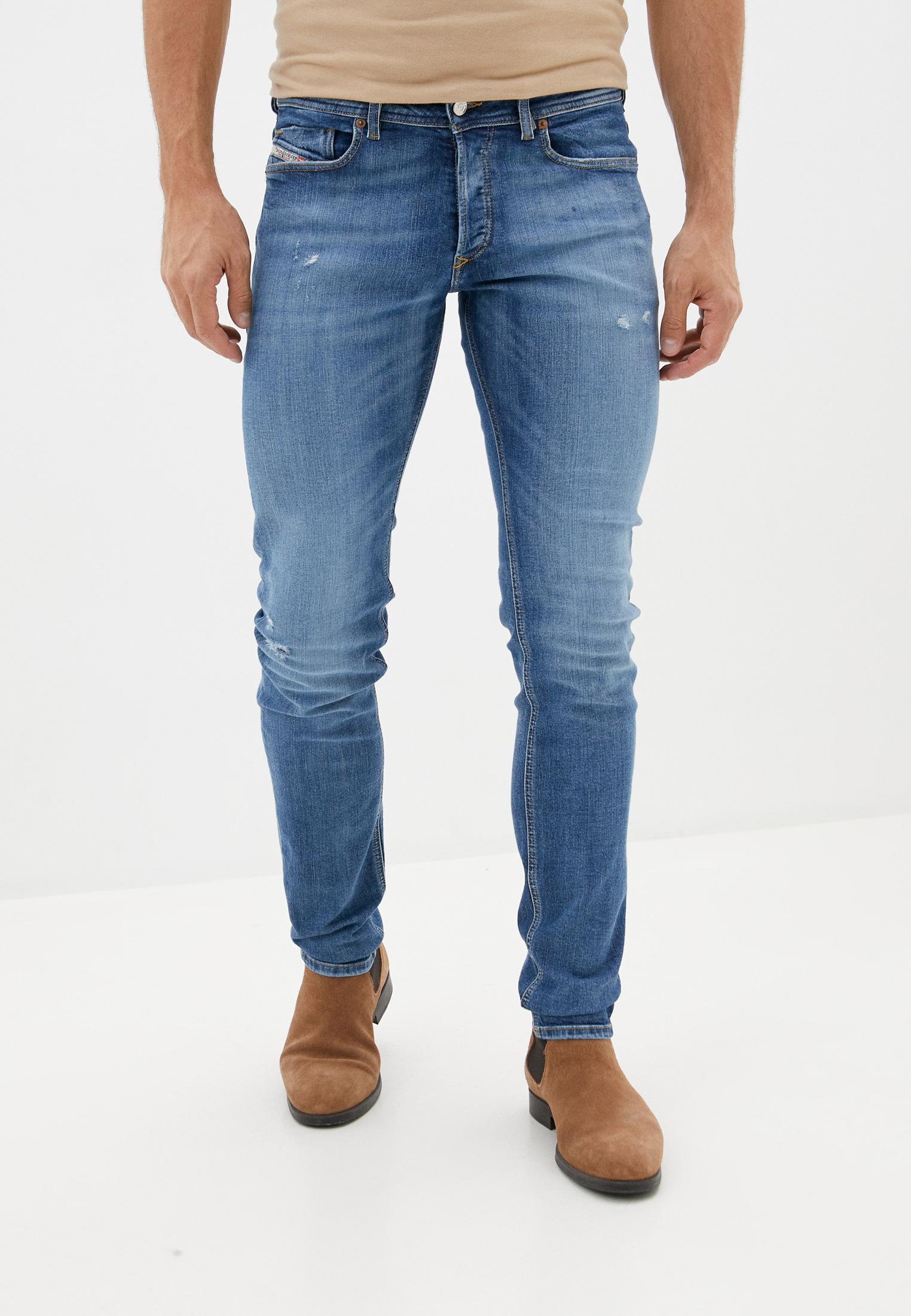 Мужские зауженные джинсы Diesel (Дизель) 00SWJG069FY