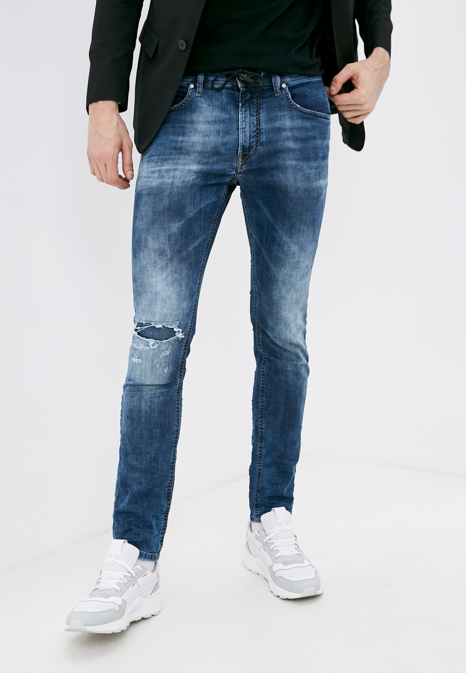Мужские зауженные джинсы Diesel (Дизель) 00S8MK069AA