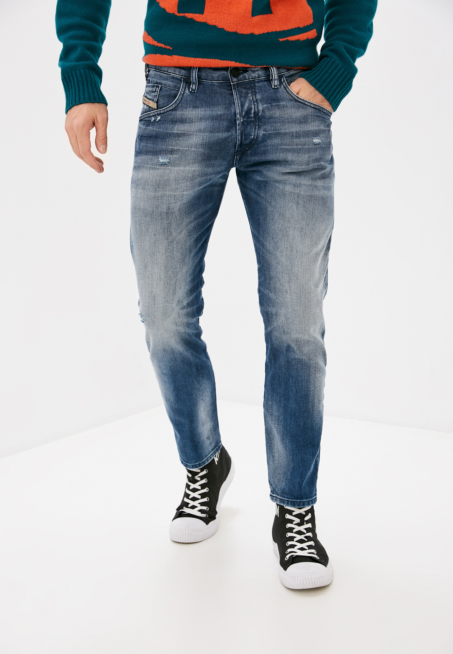 Мужские зауженные джинсы Diesel (Дизель) 00SSLK084DD
