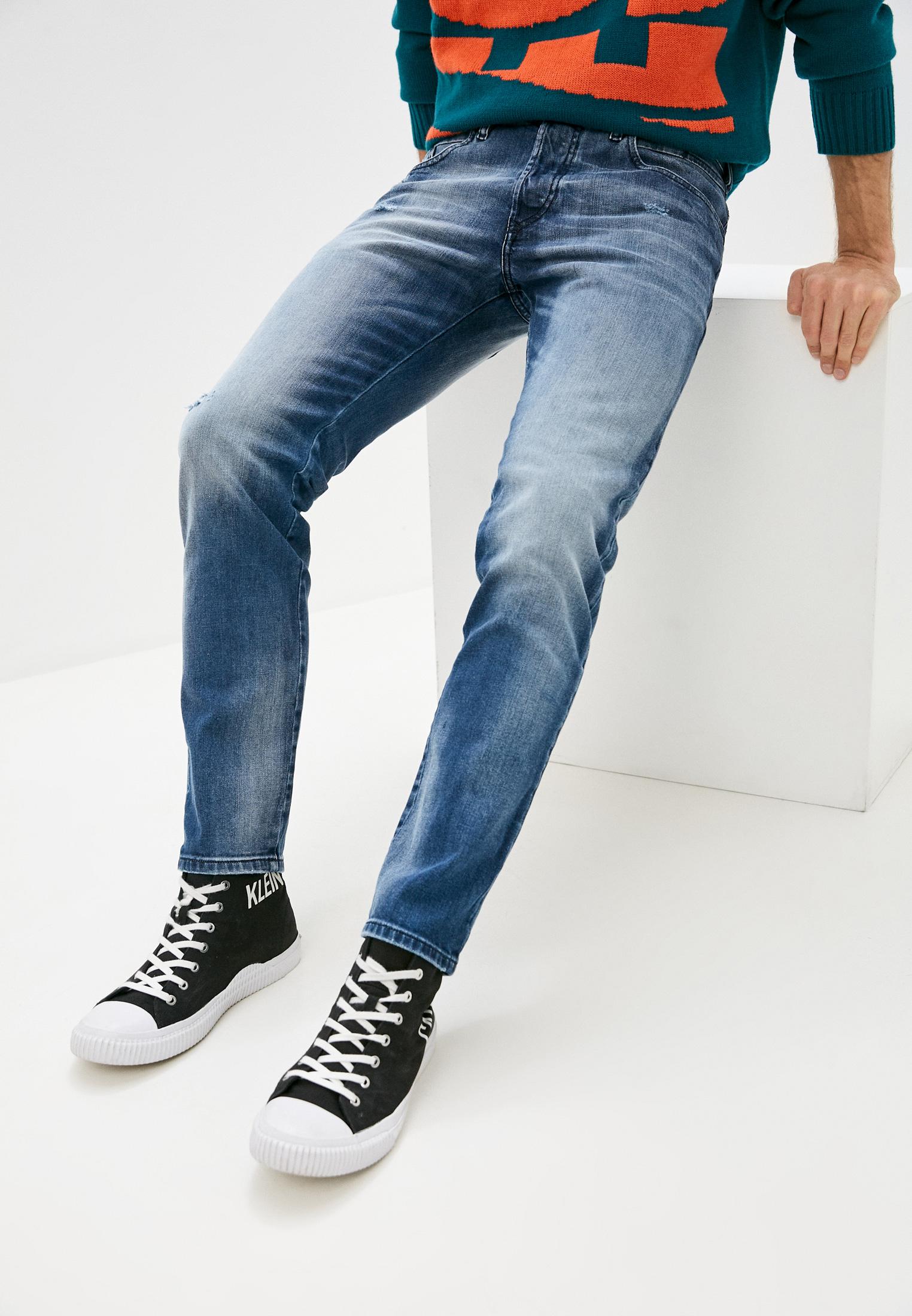 Мужские зауженные джинсы Diesel (Дизель) 00SSLL084DD