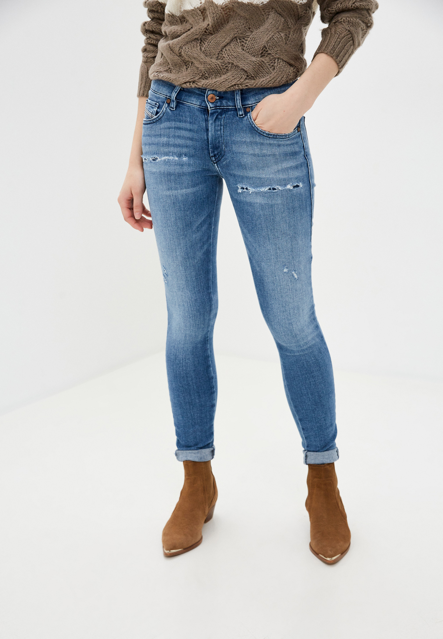 Зауженные джинсы Diesel (Дизель) 00SGSQ083AP