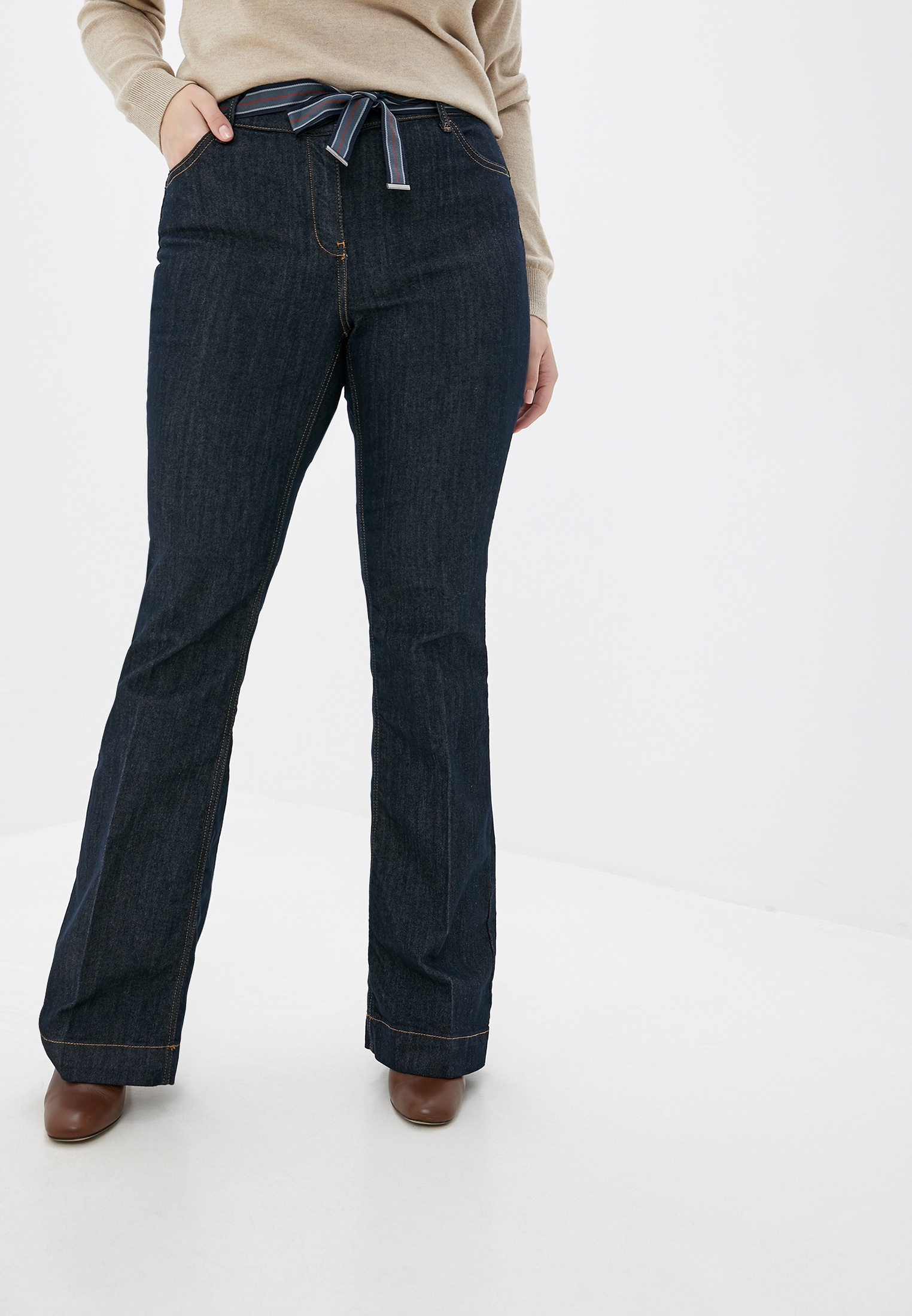Широкие и расклешенные джинсы Elena Miro P431T001AJ