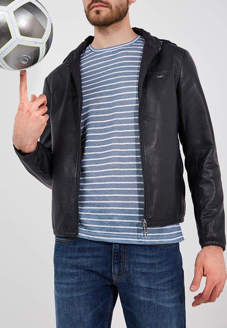 Кожаная куртка Emporio Armani 6z1bq0 1LBAZ