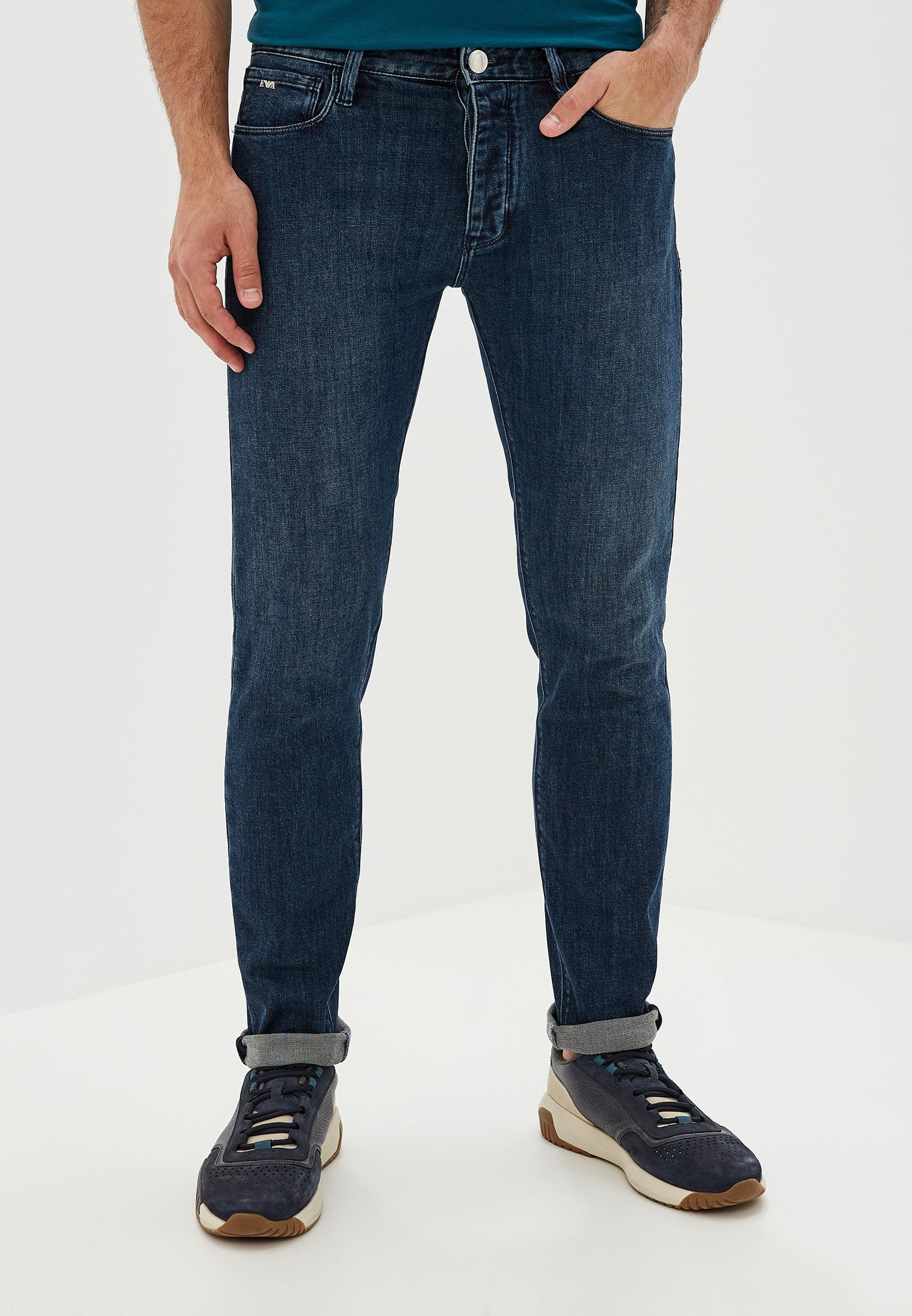 Мужские зауженные джинсы Emporio Armani (Эмпорио Армани) 6g1j75 1DIGZ