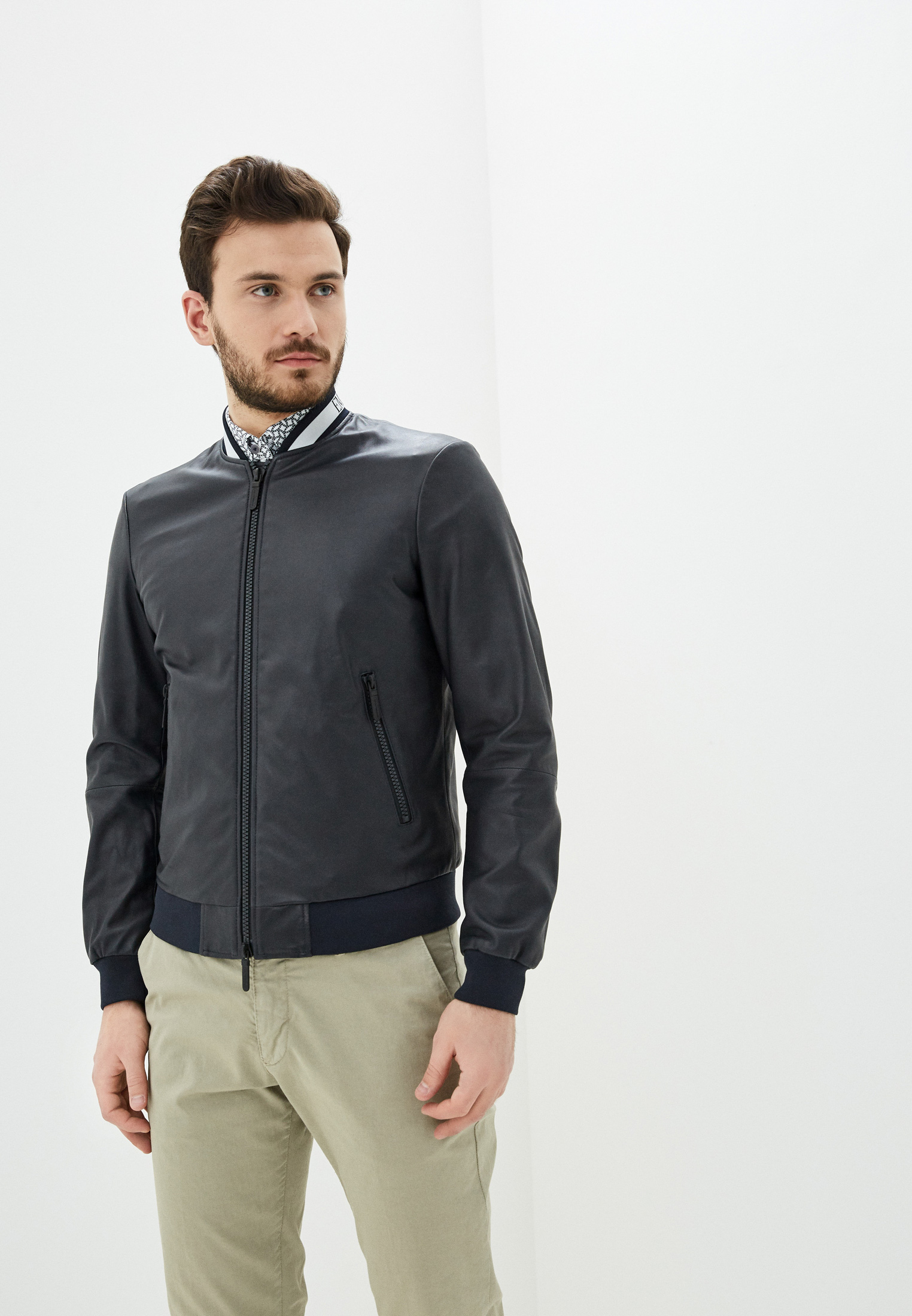 Кожаная куртка Emporio Armani 51b51p 51P51