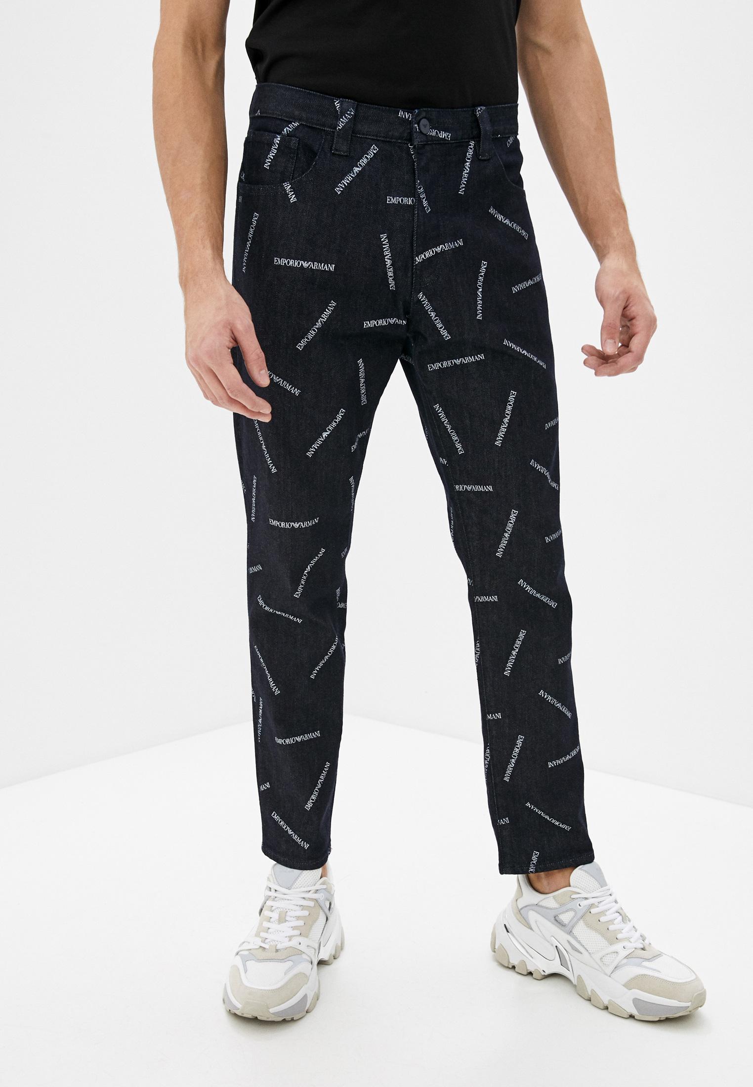 Мужские зауженные джинсы Emporio Armani (Эмпорио Армани) 3H1J38 1D9VZ