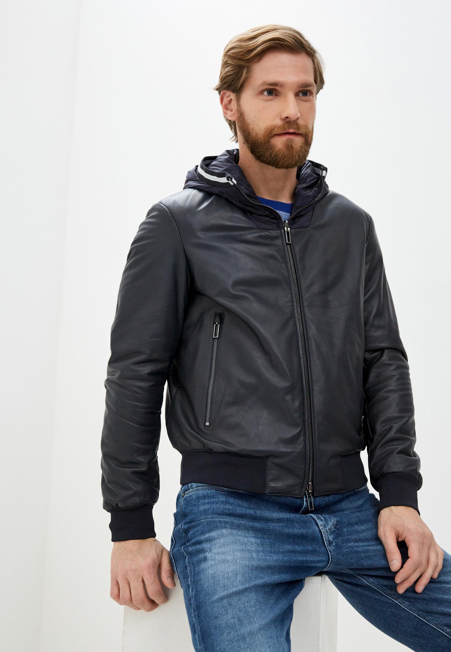 Кожаная куртка Emporio Armani (Эмпорио Армани) 91b68p 91p68