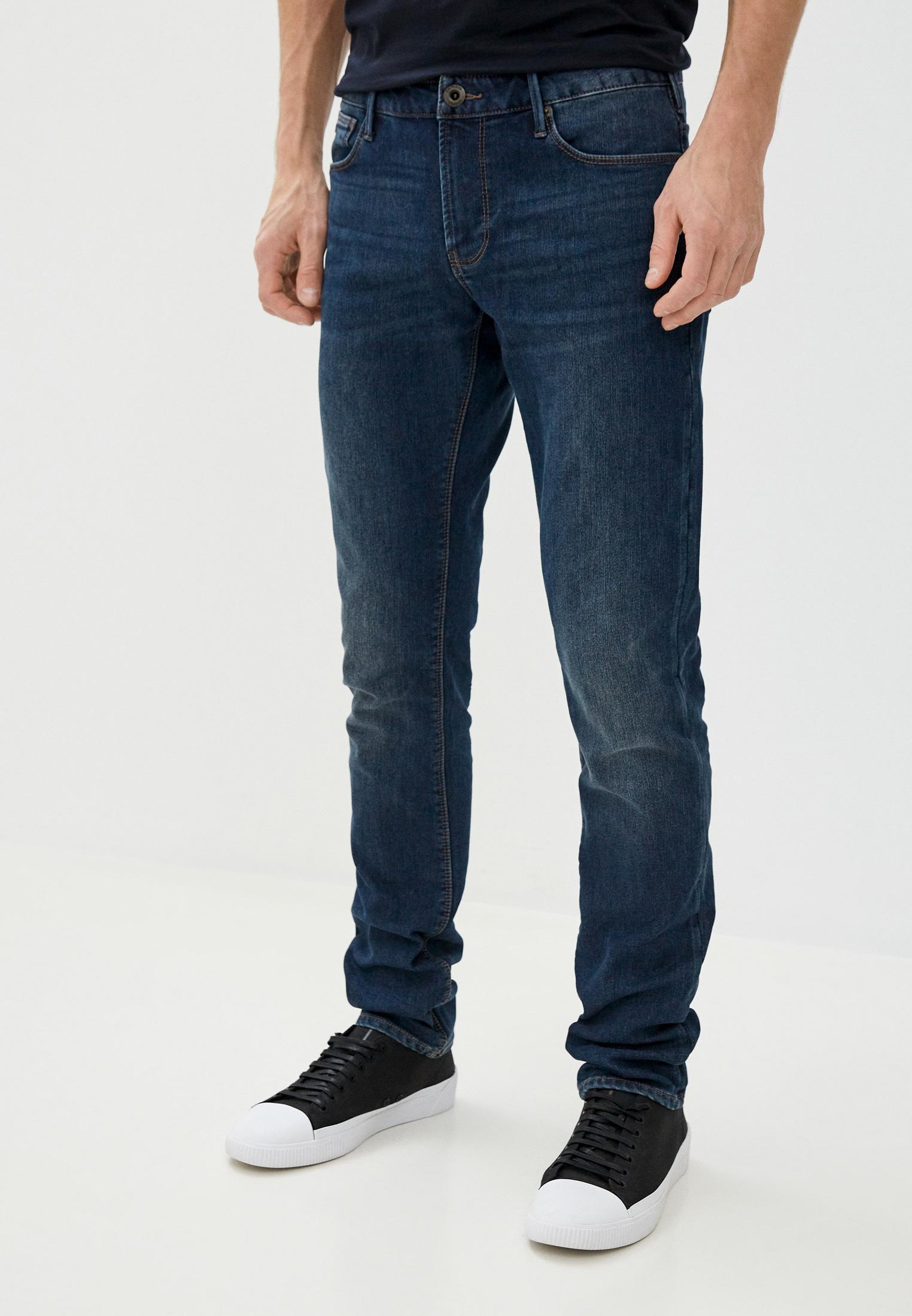 Мужские зауженные джинсы Emporio Armani (Эмпорио Армани) 6h1j06 1dpmz