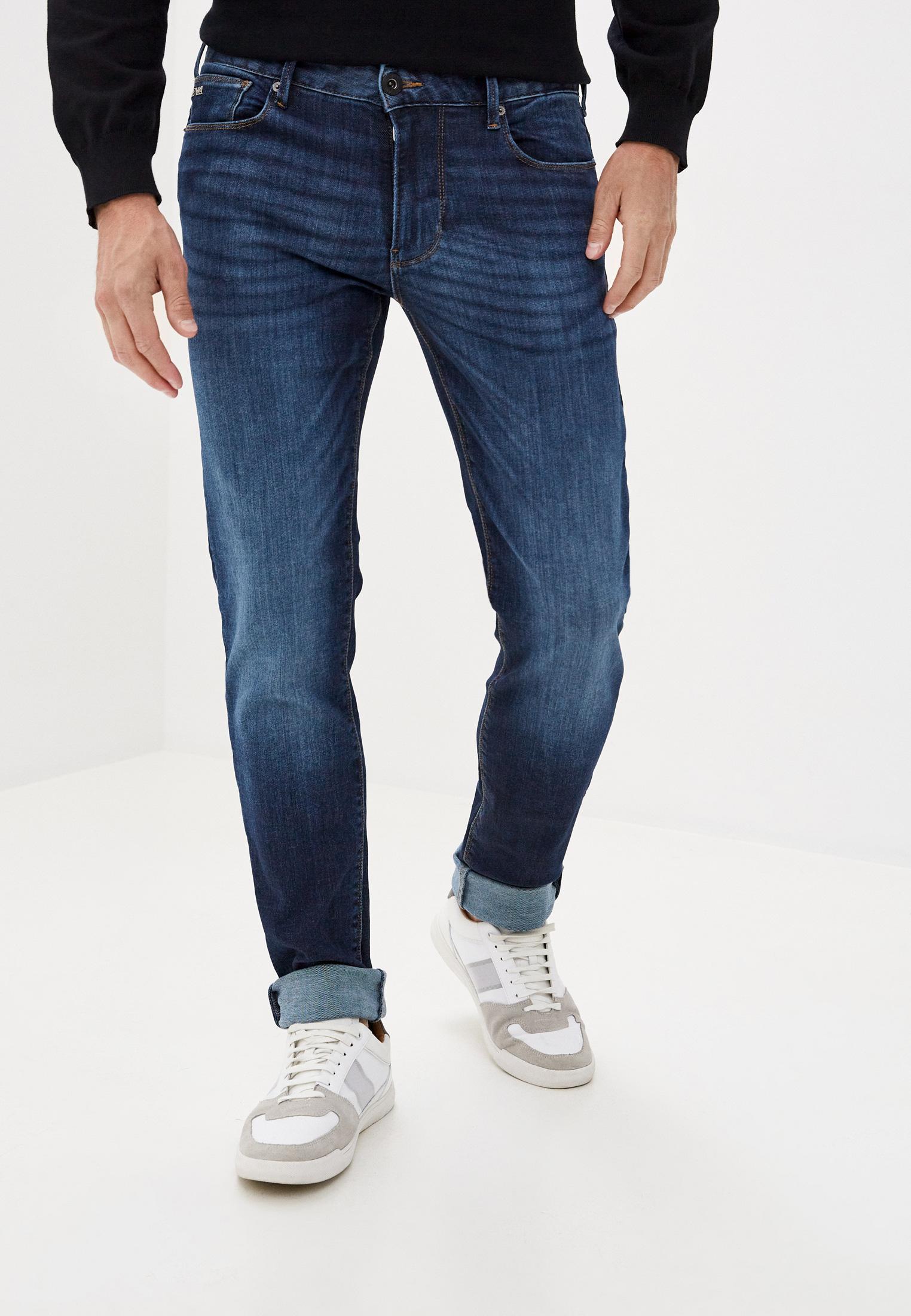 Мужские зауженные джинсы Emporio Armani (Эмпорио Армани) 6h1j06 1du1z