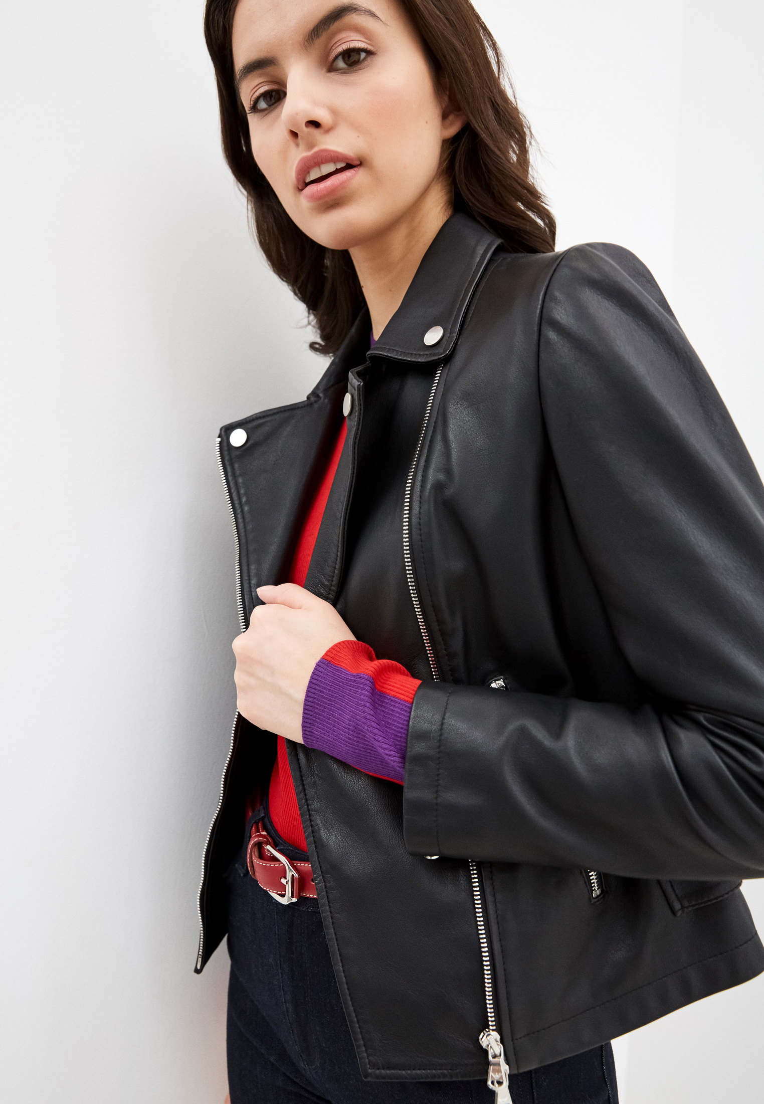 Кожаная куртка Emporio Armani 0NB60P 02P07