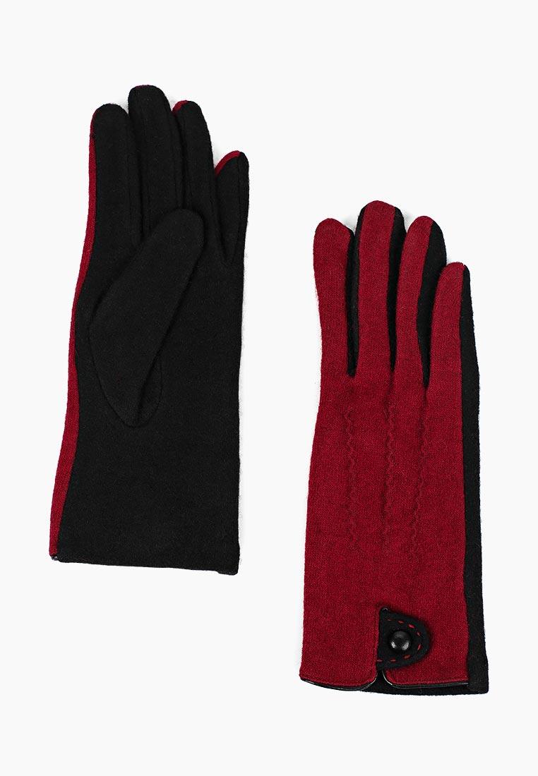 Женские перчатки Fabretti (Фабретти) HB2018-18-bordo/black