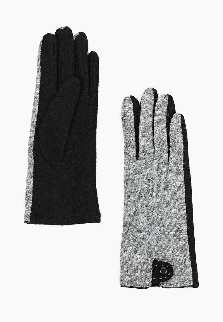 Женские перчатки Fabretti (Фабретти) HB2018-18-gray/black
