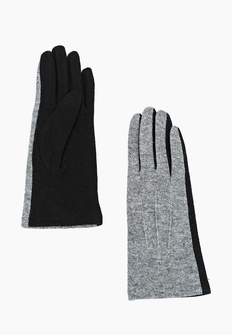 Женские перчатки Fabretti (Фабретти) HB2018-32-gray/black