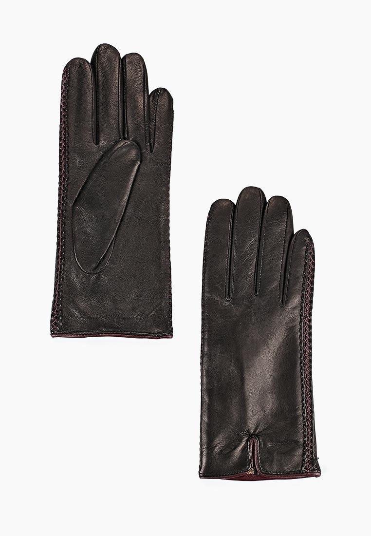 Женские перчатки Fabretti (Фабретти) 12.66-1/8 black/bordo