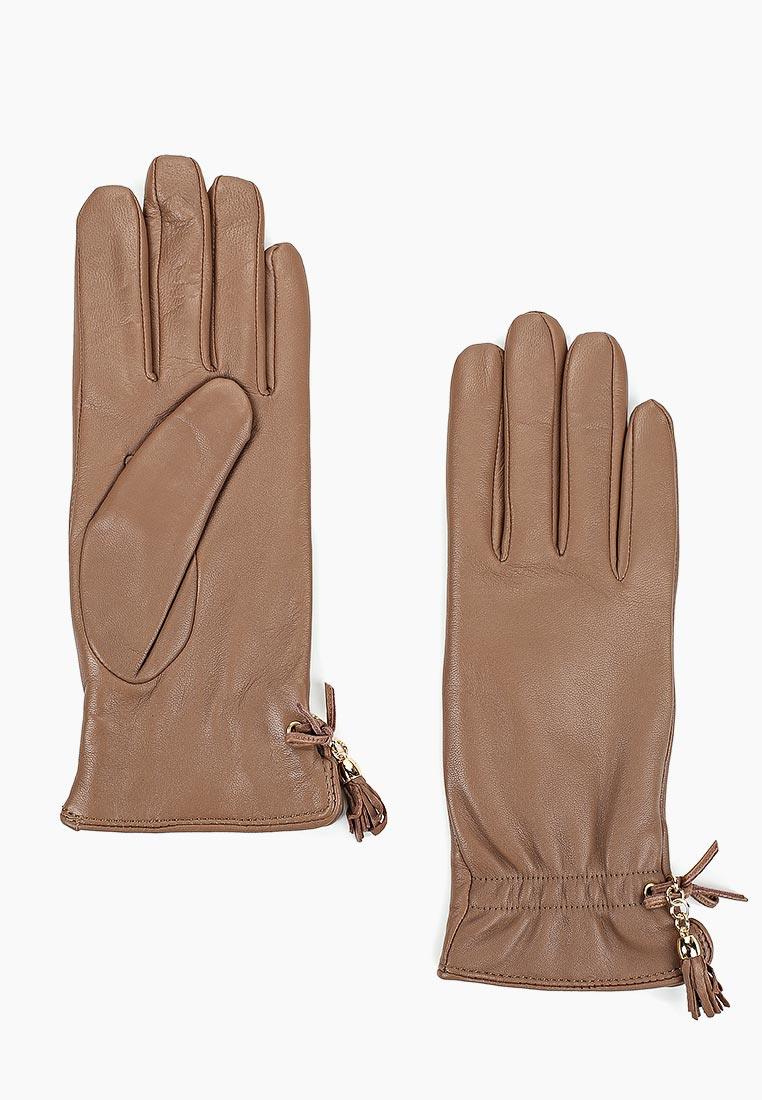 Женские перчатки Fabretti (Фабретти) 12.37-22 dark beige