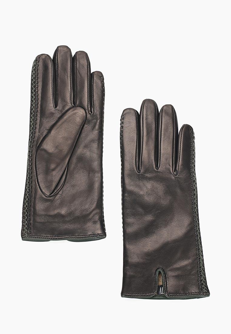 Женские перчатки Fabretti (Фабретти) 12.66-1/15 black/green
