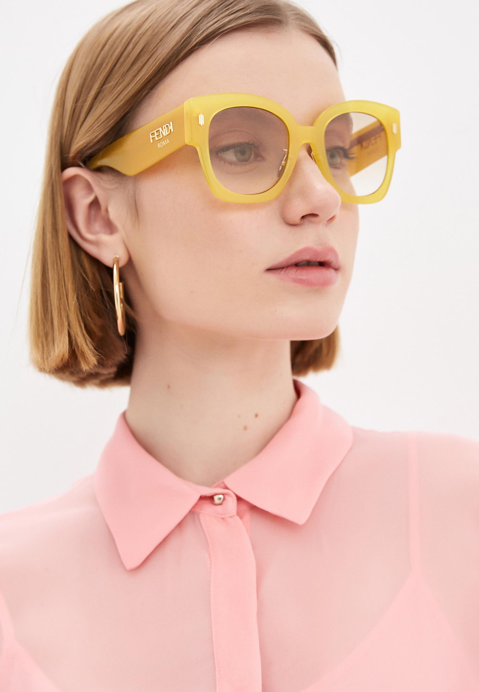 Женские солнцезащитные очки Fendi (Фенди) Очки солнцезащитные Fendi