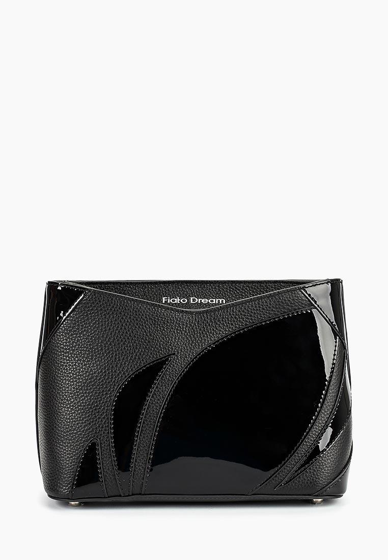 Сумка Fiato Dream 1220 FD кожа /лак черный (сумка женская)