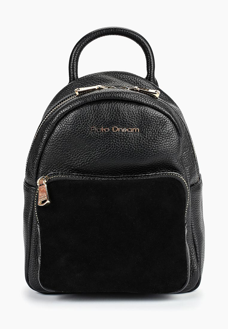 Городской рюкзак Fiato Dream 2011 FD кожа /замша черный (рюкзак женский)