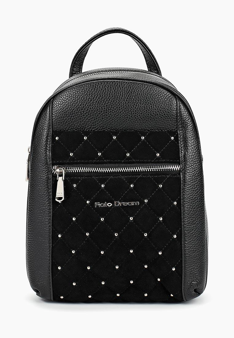 Городской рюкзак Fiato Dream 5213 FD кожа /замша черный (рюкзак женский)