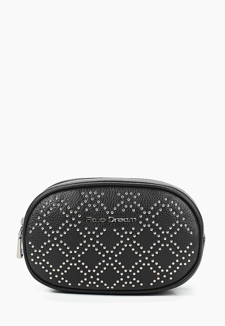 Поясная сумка Fiato Dream 1213 FD кожа черный/клепки  (сумка женская)