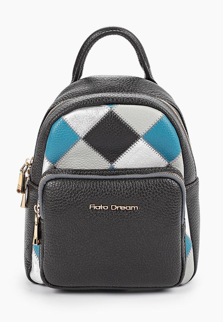 Городской рюкзак Fiato Dream 20110 FD кожа смог/пэчворк серый+серебро (сумка же