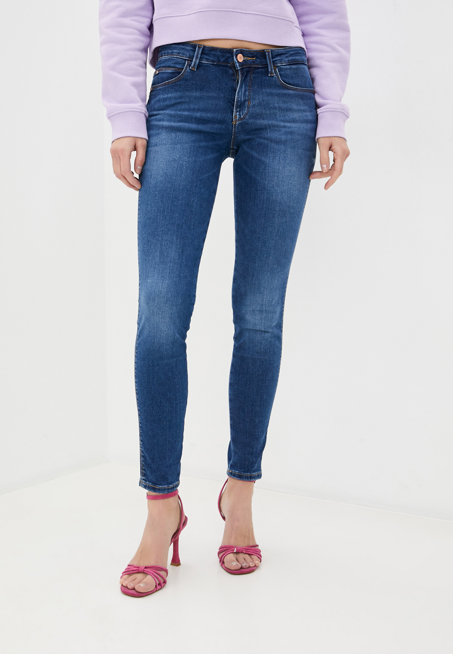 Зауженные джинсы Guess Jeans W0YAJ2 D4484