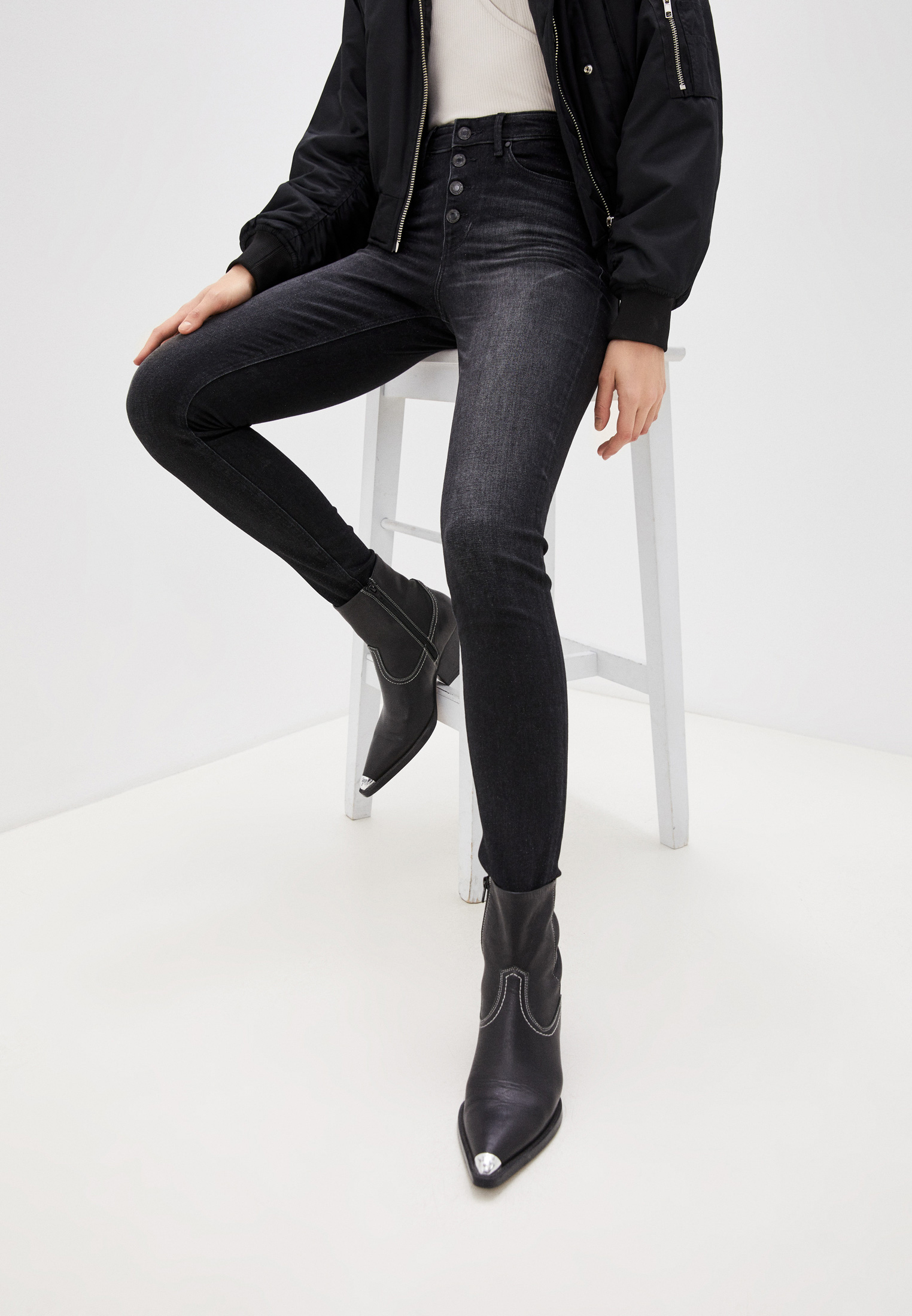 Зауженные джинсы Guess Jeans W1RA28 D4AQ2