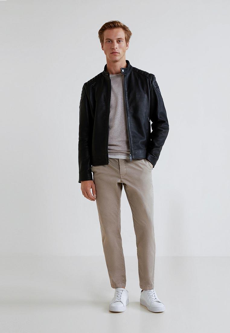 Кожаная куртка Mango Man 33085710: изображение 2