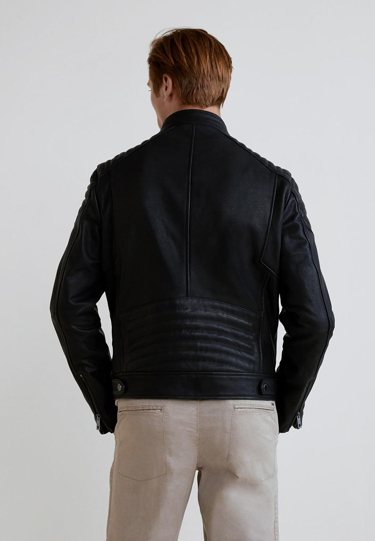 Кожаная куртка Mango Man 33085710: изображение 3