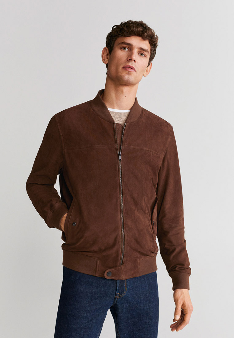 Кожаная куртка Mango Man 67044386