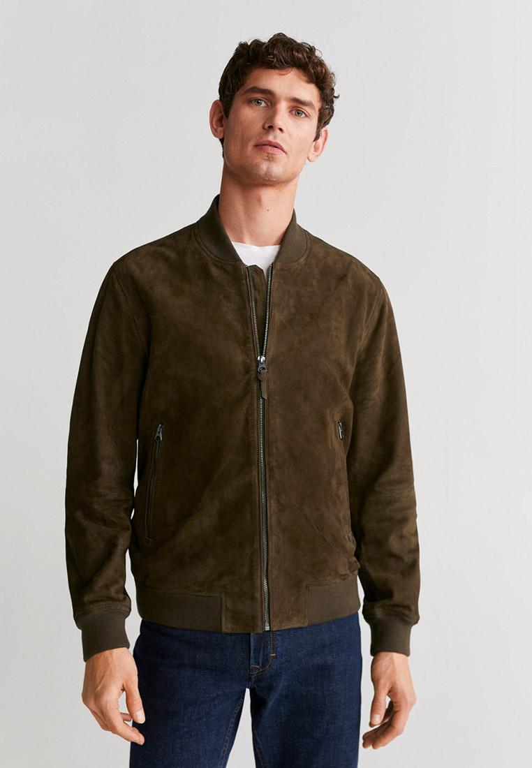 Кожаная куртка Mango Man 67064381