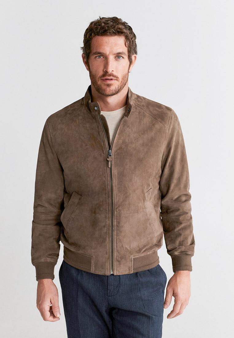 Кожаная куртка Mango Man 67054382