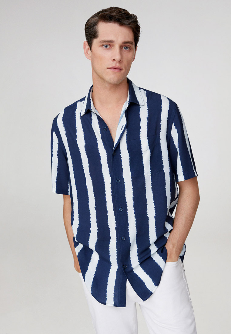 Рубашка с коротким рукавом Mango Man 77030002