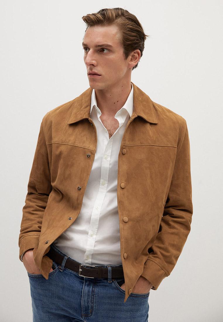 Кожаная куртка Mango Man 77044377