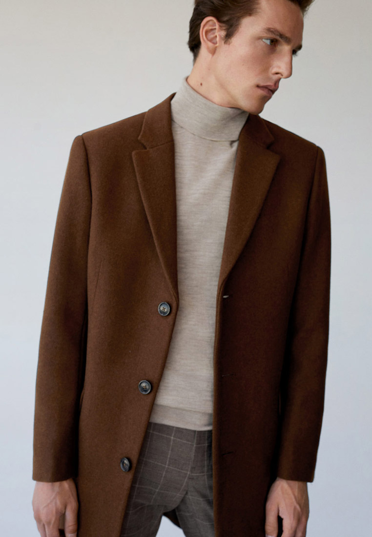Мужские пальто Mango Man 77074378