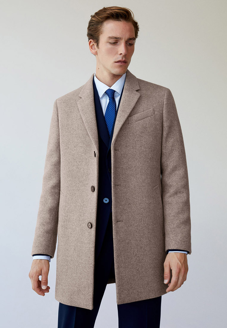 Мужские пальто Mango Man 77015902