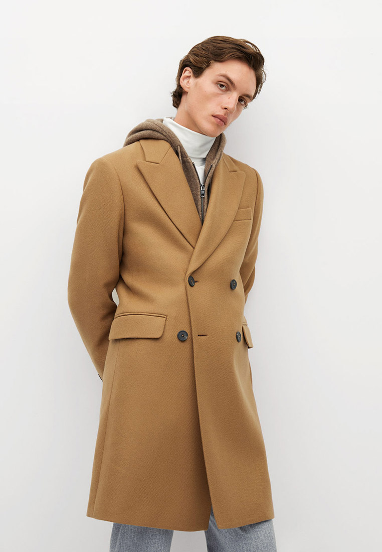 Мужские пальто Mango Man 77045905