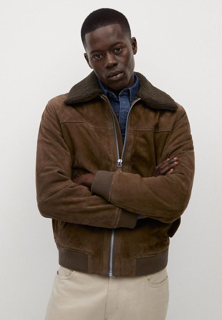 Кожаная куртка Mango Man 77056704