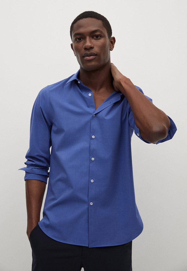 Рубашка с длинным рукавом Mango Man 87084005