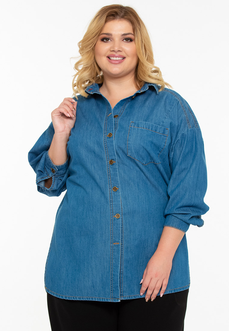 Женские джинсовые рубашки Intikoma 219220