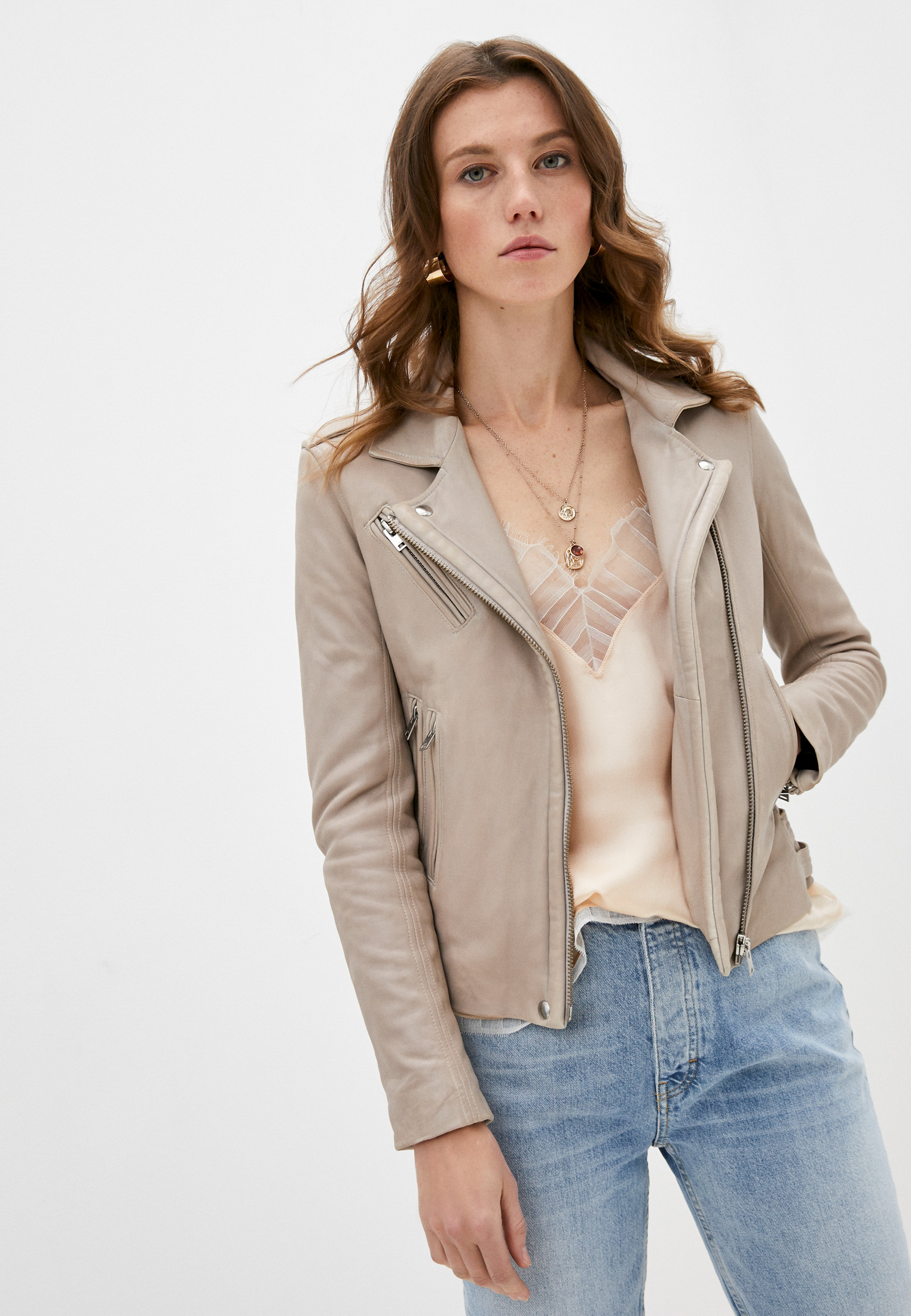 Кожаная куртка IRO WP09HAN