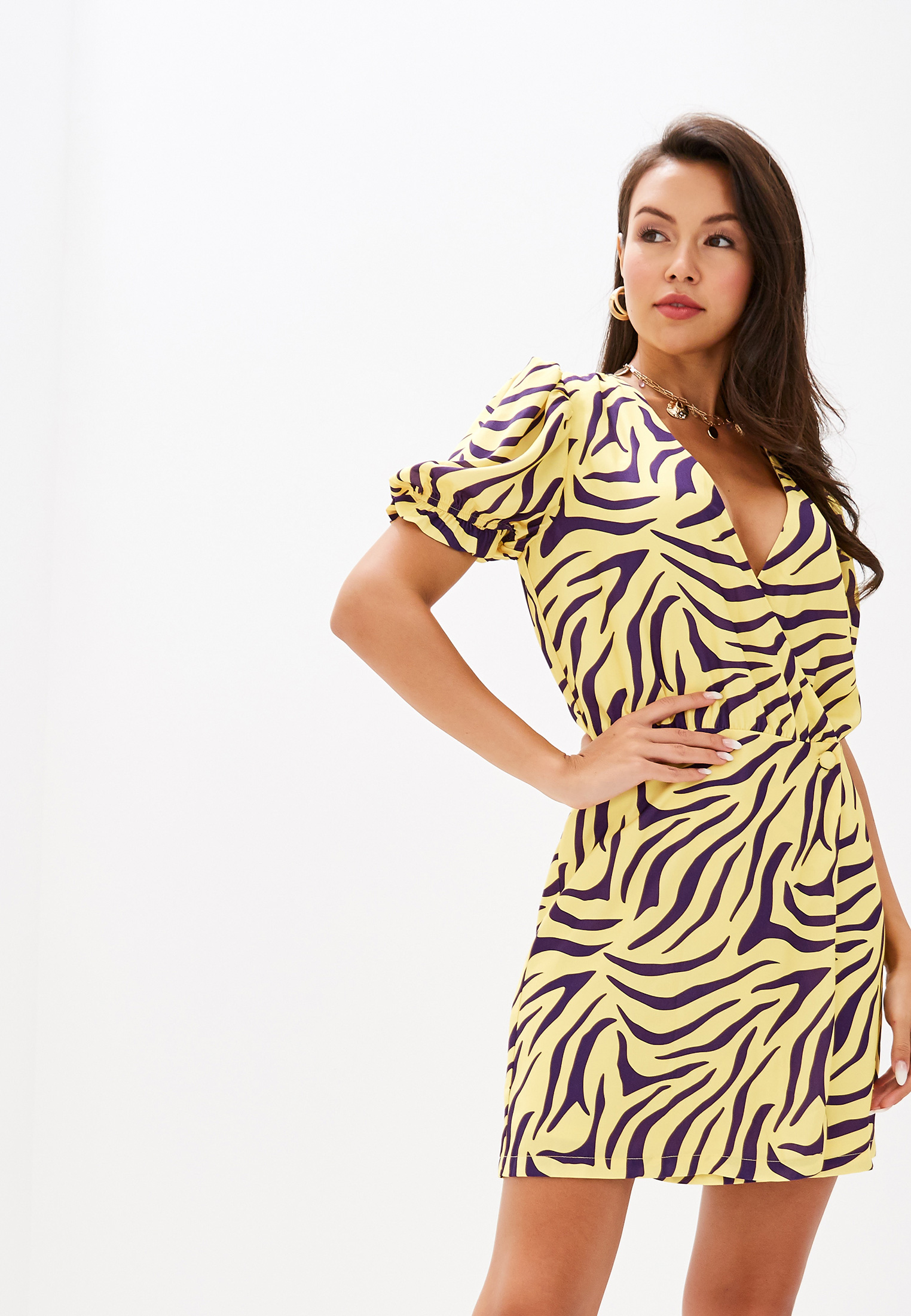 Платье Ivyrevel PUFF SLEEVE OVERLAP DRESS