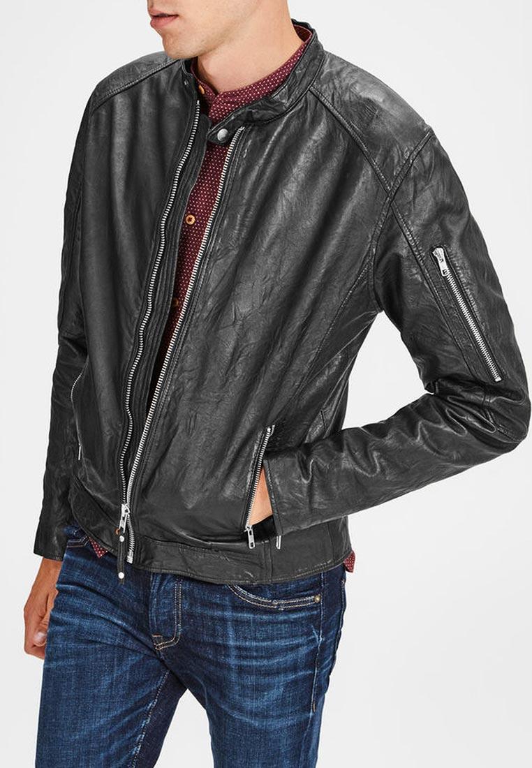 Кожаная куртка Jack & Jones (Джек Энд Джонс) 12142612