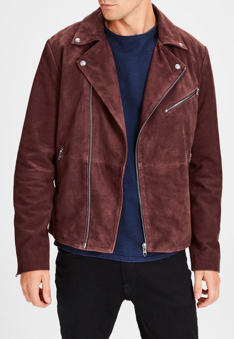 Кожаная куртка Jack & Jones (Джек Энд Джонс) 12142919