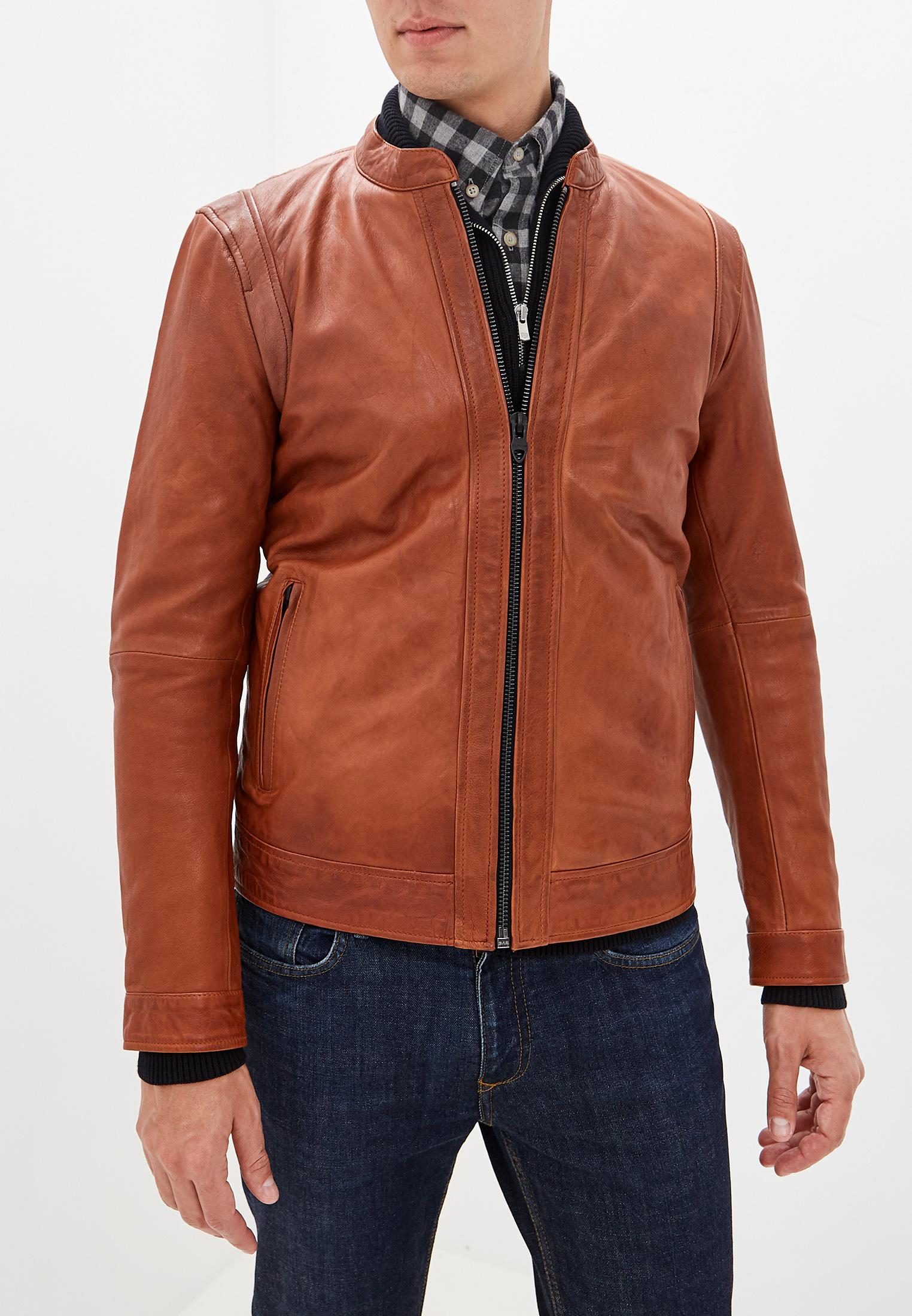 Кожаная куртка Jack & Jones (Джек Энд Джонс) 12157698