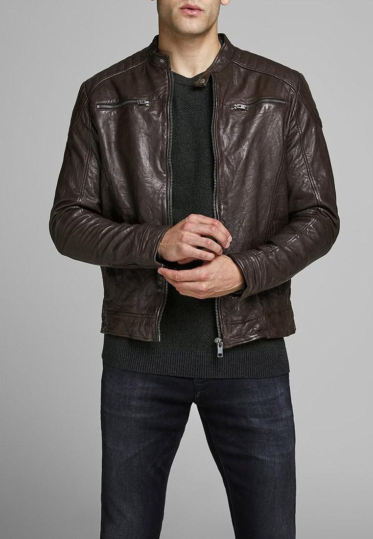 Кожаная куртка Jack & Jones (Джек Энд Джонс) 12161382