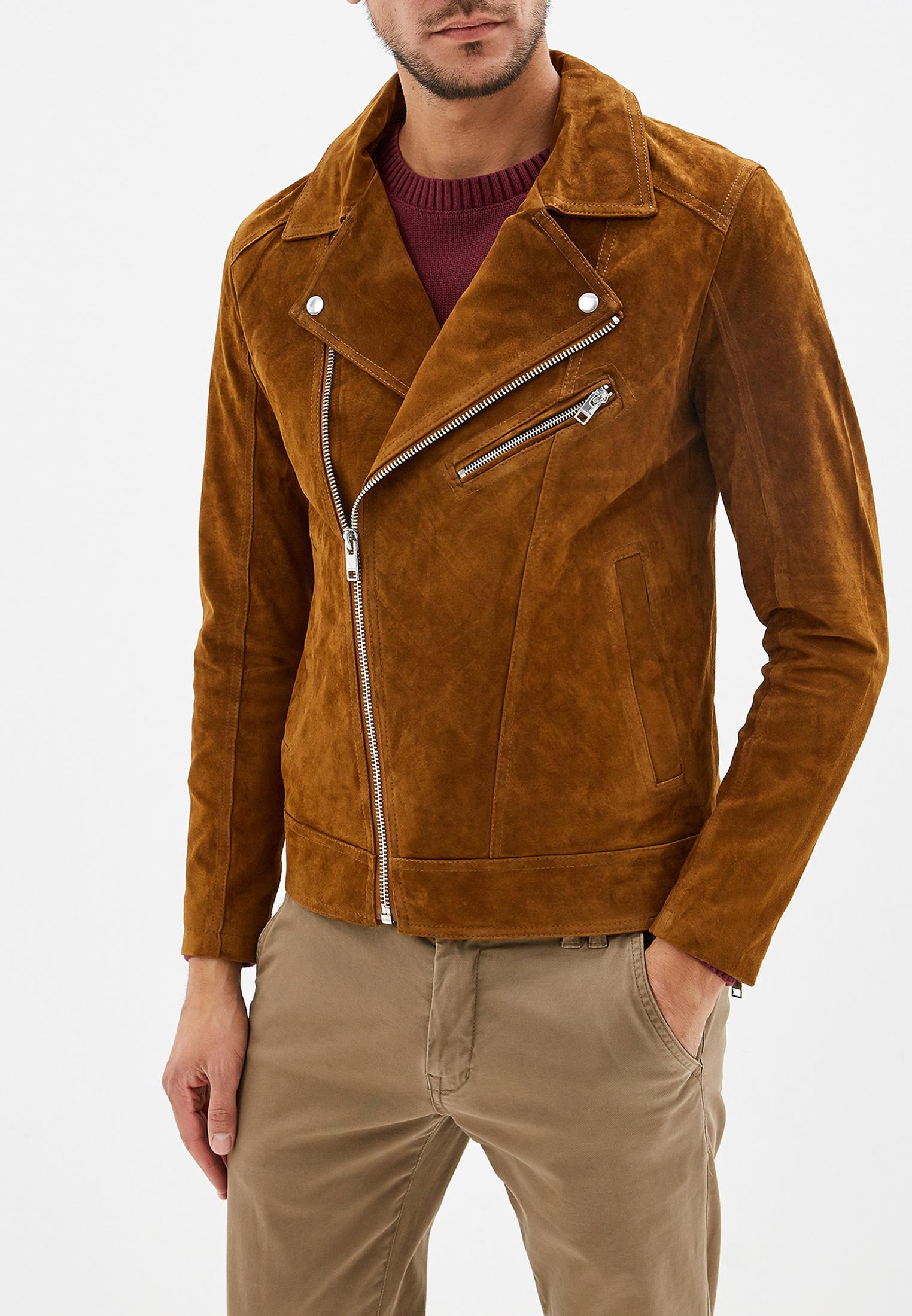 Кожаная куртка Jack & Jones (Джек Энд Джонс) 12162545